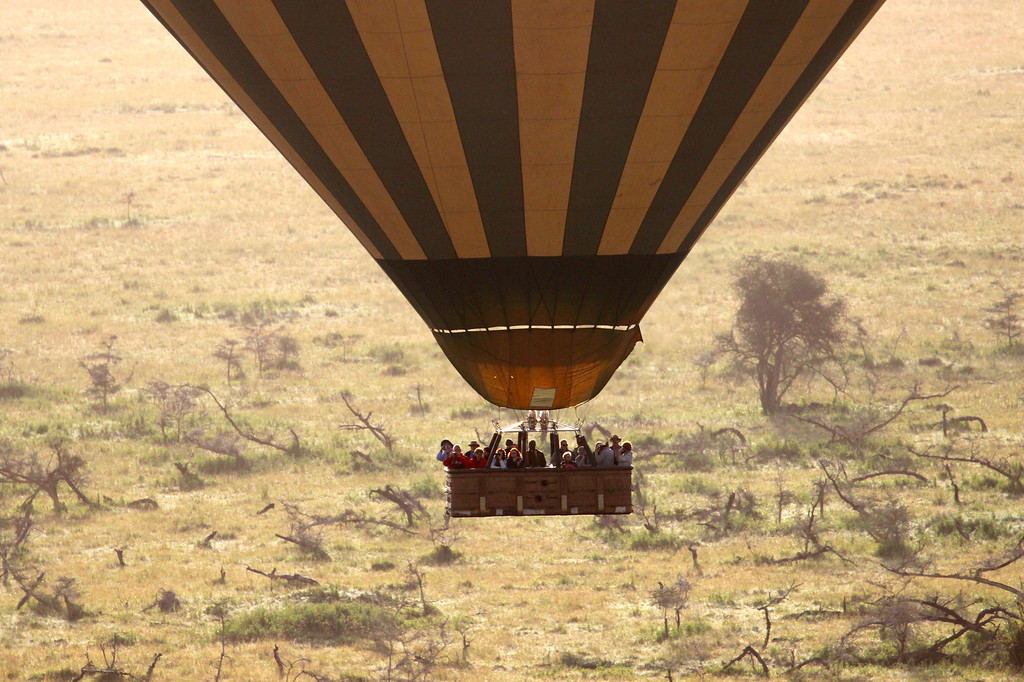 Ballooning over the Serengeti<br /> March 2012