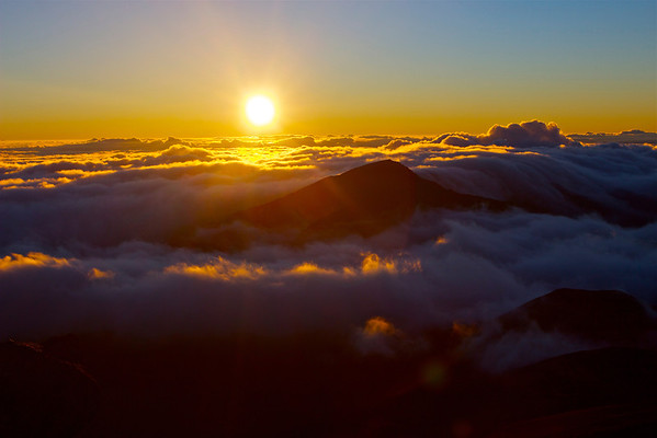 Sunrise from Haleakala Crater, Maui July 2012