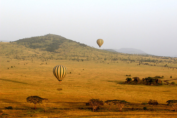 Balloon over the Serengeti Tanzania, March 2012 Featured in the Thomson Safaris 2013 brochure